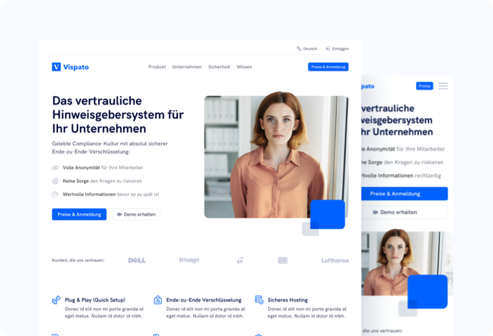 Redesign for the SaaS company Vispato